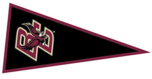 9 Inch BC Golden Eagle Logo Pennant Decal Flag Boston College Eagles Removable Wall Sticker Art NCAA Home Room Decor 9 by 4 Inches