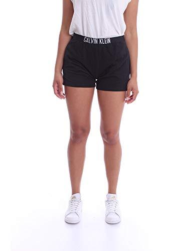 Calvin Klein Short Pantalones de Pijama, Negro (PVH Black BEH), S para Mujer