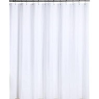 Utopia Bedding Premium Mildew Resistant PEVA Shower Curtain Anti-Bacterial - 72 x 72 Inch - Peva White