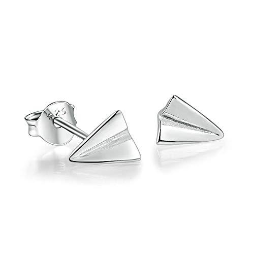 ZHWM Orecchini Cerchi Orecchini a perno Aereo A Forma di 100% Reale 925-Sterling-Silver S925 Fine Jewelry per Le Donne Ragazza Regalo Donne Ciondola Gli 1 Paia