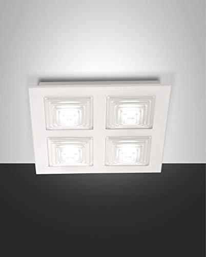 Fabas Luce 3404–61–102plafón Parona LED regulable 30W 2700LM Color Blanco LXL Color 35x 35cm