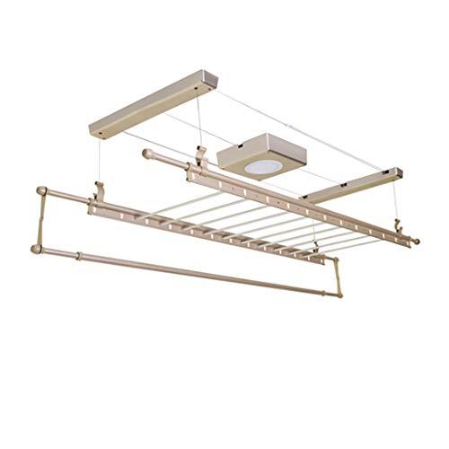 Stendibiancheria elettrica Regolabile - Gullwing Regolabile e Pieghevole per Una Facile conservazione - Stendibiancheria per Montaggio a soffitto con Luce LED, Ventola di Asciugatura con Telecomando