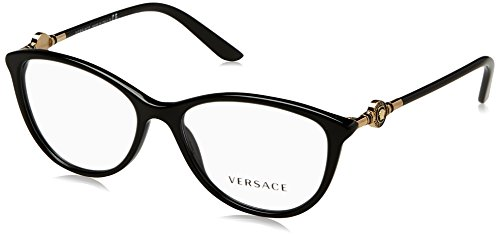 Versace Damen 0Ve3175 Brillengestell, Schwarz (Black GB1), 54 EU