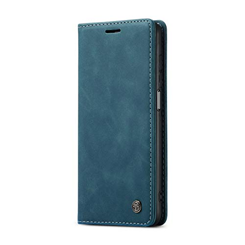 JMstore hülle kompatibel mit Xiaomi Mi 10T/Mi 10T Pro/Redmi K30s, Leder Flip Schutzhülle Brieftasche Handyhülle mit Kreditkarten Standfunktion (Blau)