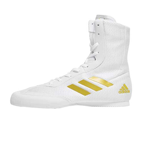 adidas Box Hog Plus, Zapatos de Boxeo Hombre, Multicolor (Weiß/Gold Weiß/Gold), 36...