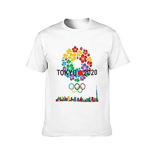 東京 2020オリンピック メンズグラフィックラウンドネックコットン半袖グラフィックTシャツ L