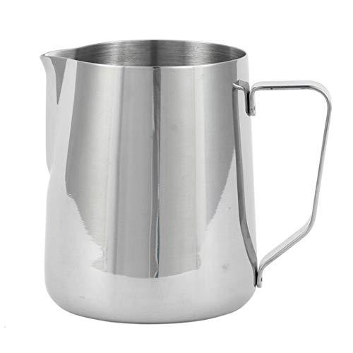 Jarra de espuma de acero inoxidable Stee Coffee, jarra de espuma al...