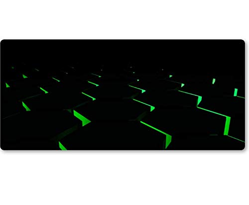 Zwart hd 3D persoonlijke textuur kenmerken patroon muispad groot bureau desktop pad hete verkoop laptop toetsenbord muispad 800 * 300 * 3 mm