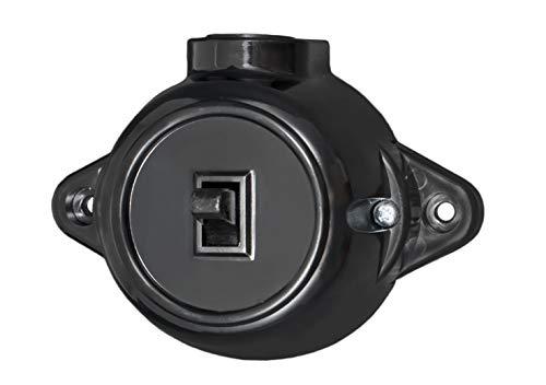 Retro Licht Ein/Aus Schalter Schwarz 10A