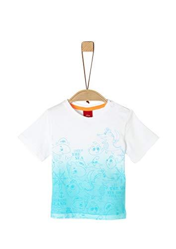 s.Oliver Junior Baby-Jungen 405.10.005.12.130.2037265 T-Shirt, 0100 White, 80
