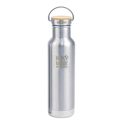 Klean Kanteen Classic Reflect Vacuum Insulated Trinkflasche, Brushed Stainless, One Size