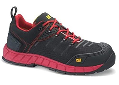 Caterpillar 17199 - Zapatos de Seguridad, Color Rojo, Talla 45 🔥