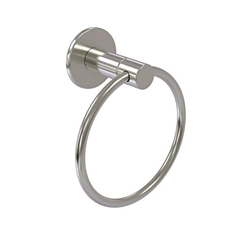 Allied Brass FR-16 Fresno Collection Towel Ring, Satin Nickel