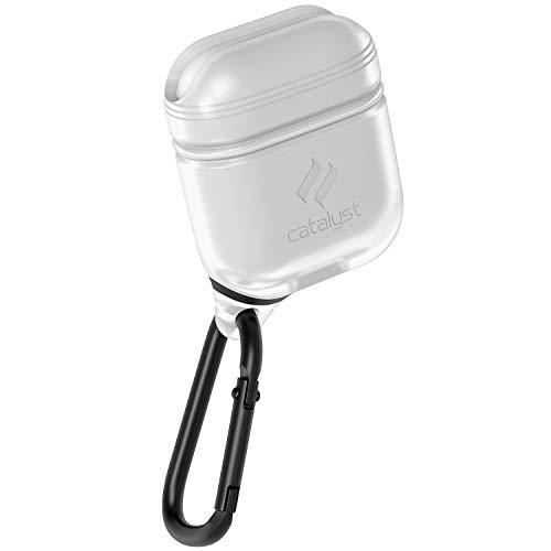 Catalyst Airpods Hülle - Stoß und Fallfeste Airpods Schutzhülle, Wasserdicht und Weich auf der Haut, Anti-Lost Karabinerhaken, Silikonabdichtung, Hochwertigen für Apple Kopfhöhern Zubehör, Weiß