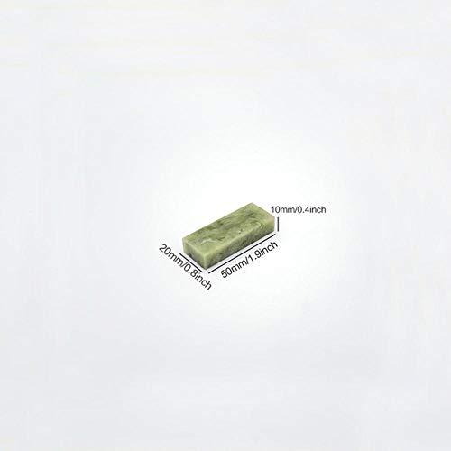 JNML Natrual groene slijpsteen met voet Boriumcarbide wetsteen voor keukenmes olie slijpsteenrand, 200 X 50 X 10 mm