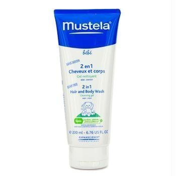 Mustela Baby Products 2 in 1 Hair and Body Wash 6.7 oz for Baby Boy's and girl's