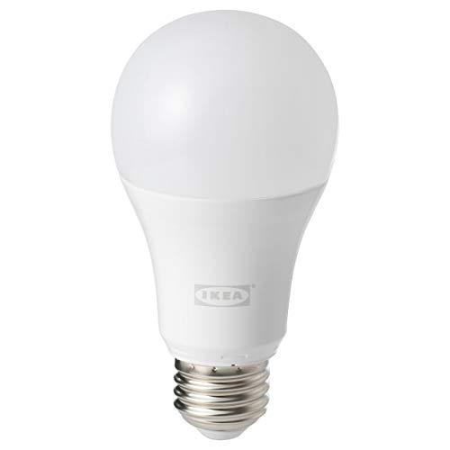 IKEA Trådfri kabelloser Bewegungsmelder 4,4 x 3,7 cm weiß mit E27 1000 lm Glühbirne
