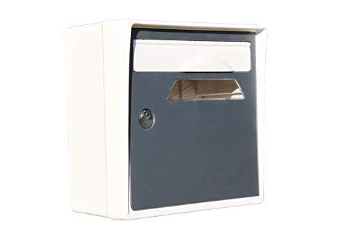 CBOUTIC Boite AUX Lettres Courte BLANC-GRIS-CREASTUCE-07-CI