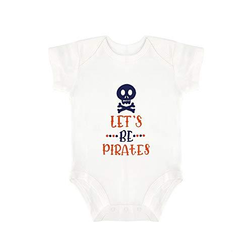Promini Combinaison bébé mignonne Lets Be Pirates Body bébé 1 pièce Barboteuse Cadeau idéal pour bébé - Blanc - 18 mois
