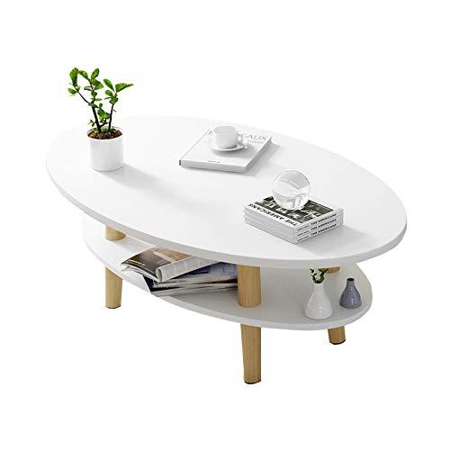 Home-table Mesas Finales De Madera, Casa De Doble Capa Mesa De Sala De Estar Hotel Condominium Sofá Mesas Mesa De Centro Multifunción 100 / 120cm(Size:100 * 50 * 43CM,Color:#2)