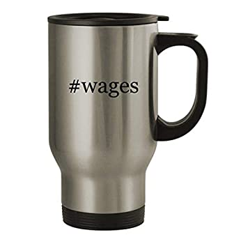 #wages - 14oz Stainless Steel Hashtag Travel Coffee Mug Silver