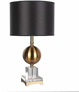 Lampe de Table Lampe de table noire, lampe de table de décoration de salon, lampe de chevet de chambre à coucher, lampe de...
