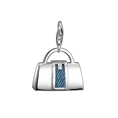 Esprit ESZZ-90730.A Charms Tasche Charm Silber denim bag XL