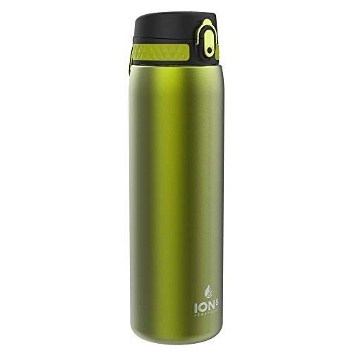 Ion8 Borraccia Termica 1 Litro Acciaio Inox, Senza Perdite, Verde