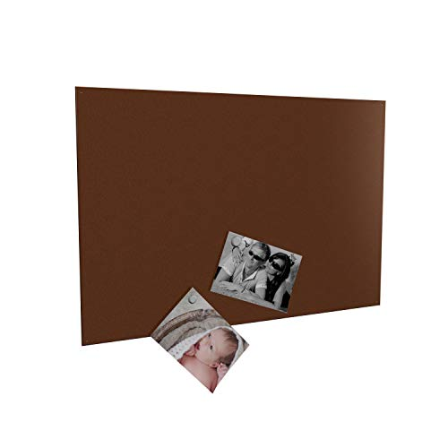 Colours-Manufaktur Magnettafel inkl. Magnete - in 4 Verschiedene Größen und 18 (rost, 50 x 80 cm)