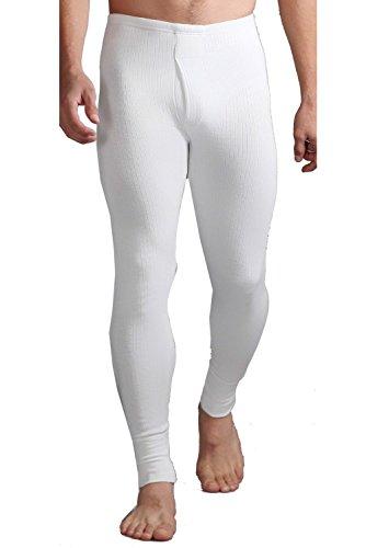 """HEAT HOLDERS Les porteurs de Chaleur des Hommes sous-vêtements Thermiques 0,45 tog Long Johns Blanc (Large 91-96cm / 36-38"""")"""