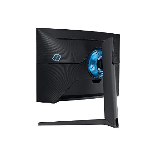 Samsung G7 (C27G73TQSR) 68,58 cm (27 Zoll) QLED Curved Odyssey Gaming Monitor (2.560 x 1.440 Pixel, 240 Hz, 1ms, 1000R, Dual Monitor geeignet, PC Monitor, AMD FreeSync, G-Sync Kompatibel) schwarz
