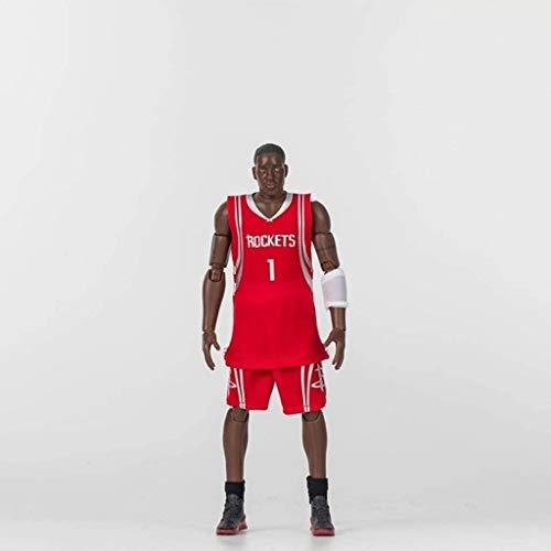 HOOPOO Figura de acción de la NBA 22cm Serie 1 Tracy McGrady los Rockets edición Limitada de colección: Figuras de la NBA
