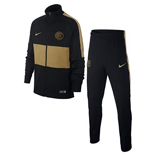 Nike Kinder Inter Y NK Dry Strk TRK Suit K Tracksuit, Black/Black/Truly Gold/(Truly Gold) (no Sponsor-plyr), M