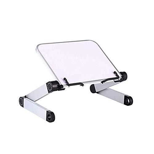 SEGIBUY Laptop Stand Adjustable, Aluminum Notebook Stand Tablet Desktop Holder, Ergonomic Laptop Riser Elevator for Desk, Foldable Metal Holder Can Save Space for Home Office,Black