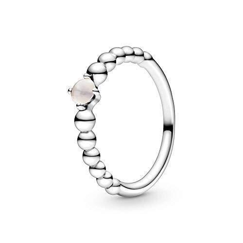 Pandora 198867C06-50 silver women's ring with Pink Blush spheres