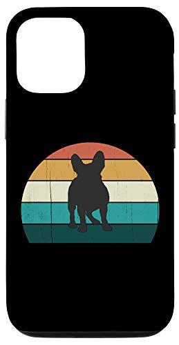 iPhone 12/12 Pro Retro French Bulldog - Vintage Sunset Frenchie / Dog Lover Case