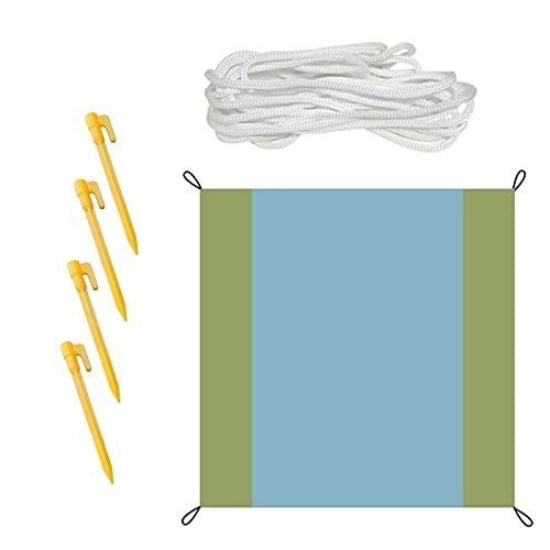 Sush Parasol, Manta de Playa Multifuncional 200 x 200 cm Sombrilla UV para Patio Trasero, Manta de Playa, Adecuada para Playa, Camping, Picnic, Senderismo, Sombra