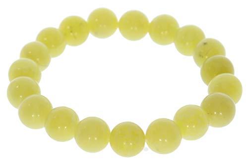 Jade Olivin 10mm Kugel Schmuck Stretch Edelstein Armband 10s109 - individuelle Größe Kugel Durchmesser 10mm, DisplayLength 18