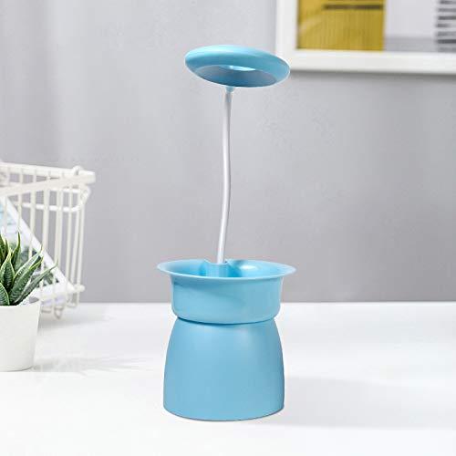 XKMY Macetero para plantas de jardín inteligente con luz LED para crecer hidropónica, multifunción, lámpara de escritorio, plantas de jardín, macetas hidropónicas (color azul)