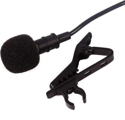 Timyka 3.5mm Jack Plug Clip-On Stereo Mini lavalier Portable External Lapel Mic Collar Microphone for PC Computer Laptop Gaming Sound Recording