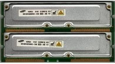 1GB Kit [2x512MB] PC800 ECC 40ns RAMBUS RDRAM Memory RAM Upgrade for the Dell Precision Workstation 350 Desktop Systems