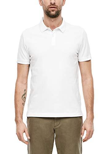 s.Oliver Herren Poloshirt mit Waffelpiqué-Struktur White L