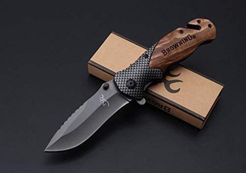 FARDEER KNIFE Couteau de Pliant, Couteau Poch Survie Chasse Couteau Multifonction R50