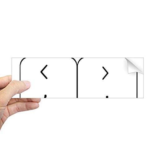 DIYthinker Tastatur-Symbol Klammern Rechteck Bumper Aufkleber Notebook Fenster Aufkleber