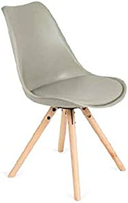 IMPT-HOME-DESIGN - Pack 4 sillas Ralf en Blanco o Gris - Gris