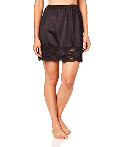 Ilusion 1017 - Women's Classic Lace Hem Skirt Slip (Black, Small 18 Inch Length)