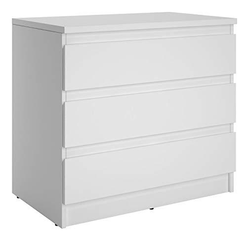 CARO-Möbel Kommode Dande Sideboard Schubladenkommode mit 3 grifflosen Schubladen in weiß