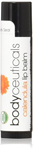 BodyCeuticals Organic Calendula Unflavored Lip Balm Stick, 0.15 Ounce