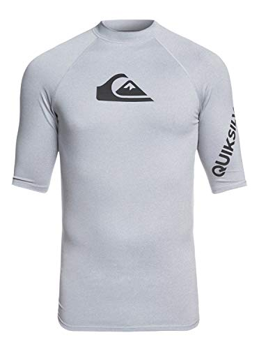 Quiksilver EQYWR03136_S Surf tee, Hombre, Light Grey Heather