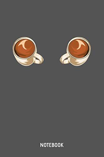 Notebook: A5 (Handtaschenformat) Kariert Kaffee Notizheft oder Koffein Journal - Barista Tagebuch oder Rezeptbuch als Notizbuch für Männer und Frauen